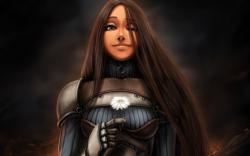 Armor girl tears