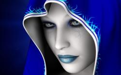 Art Blue Girl