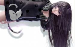 Art Girl Headphones Anime