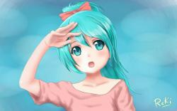 Art Vocaloid Hatsune Miku Girl