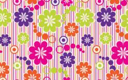 Artistic colored flowers