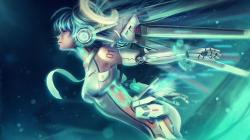 ... VOCALOID UNIT 01: Ascension Miku by Eddy-Shinjuku