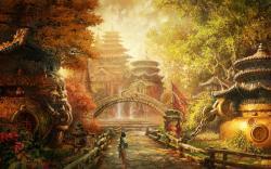 Asian City Fantasy Wallpaper #62004 - Resolution 1920x1200 px