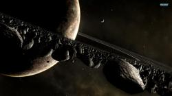 Planets and asteroids wallpaper 1920x1080