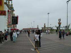 The Atlantic City boardwalk outside the Trump Taj Mahal.