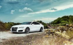 Audi A7 White Road