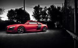 Audi R8 Red Car Wheels Tuning