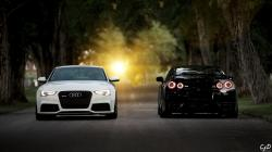 Above Is Audi Rs5 Nissan Gtr 35 Wallpaper In Resolution 2560×1440