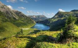 Austria alps mountain lake