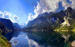 Austrian mountain lake scenery