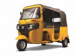 Bajaj Auto Rickshaw yellow