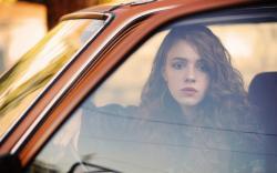 Autumn Day Window Car Lifestyle Redhead Girl