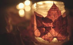 Autumn Leaves Jar HD Wallpaper
