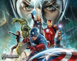 The Avengers Illustrated Wallpaper - Assembled 5