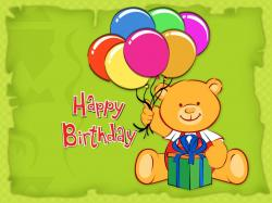 cute happy birthday free wallpaper Wallpaper
