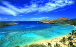 Awesome Blue Sky On Hawaii Beach Wallpaper HD Wallpaper