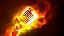 Fire Microphone Hd Music Wallpaper 1920x1080px