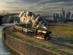 Cool Train Landscape Wallpapers