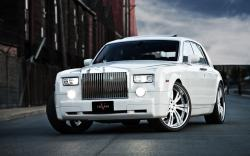 Slender Rolls Royce Phantom Custom Big Rims White Hd Wallpaper
