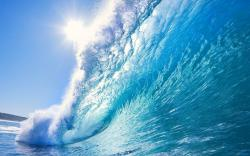 Big blue wave