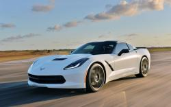 Awesome White Corvette Wallpaper
