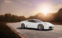 Awesome White Ferrari Wallpaper
