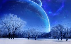 winter scene. Free desktop wallpaper