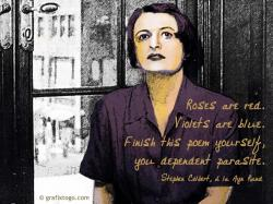 When Stephen Colbert made a Valentine's Day joke at Ayn Rand's expense, I decided to illustrate it. I found an old photo of Ayn, added sketch details and ...