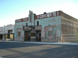 Hayden, AZ downtown: movie theater (now closed)