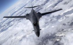 This is a b-1 Lancer, it is not a stealth bomber. ...