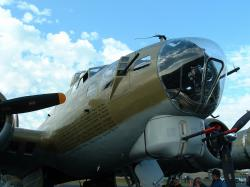 nose of a B-17 bomber