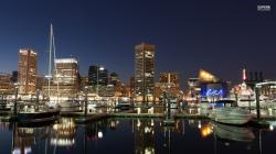 Baltimore harbor at night wallpaper 1920x1080