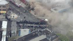 A CVS was looted and then set on fire during a protest in Baltimore on April
