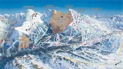Pistenplan und Panoramakarte Sunshine Village Ski And Snowboard Resort Banff