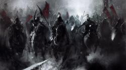 Battle Horses Soldiers Fantasy Artwork