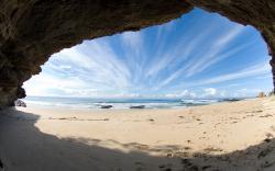 Beach Cave Ocean