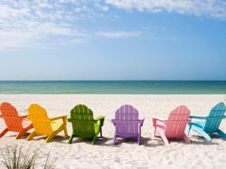 Beach Chairs Hd Desktop Wallpaper Widescreen High Definition 1600x1200px