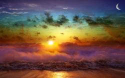 Beach Rainbow Art
