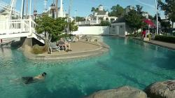 Disney's Yacht & Beach Club Resort Stormalong Bay POV Pool Tour Including Slide, Lazy River