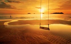 Beach Sunset Swing