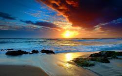 View And Download Free Beach Sunset Wallpapers,