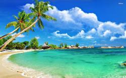 ... Tropical beach wallpaper 1920x1200 ...