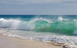 Beach Waves Background