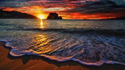 ... Free Beach Wave Wallpaper