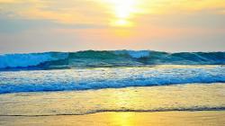 Beach Waves Sunset