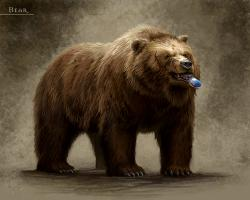 Animated brown bear