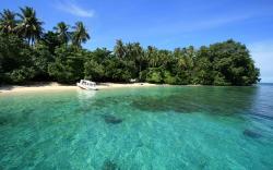 Beautiful beach cenderawasih national parks