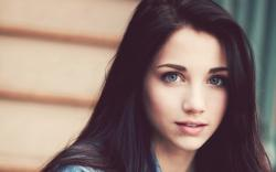 Mood Girl Brunette Portrait Photo
