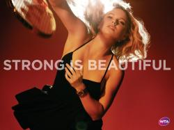 WTA Caroline Wozniacki in Strong Is Beautiful