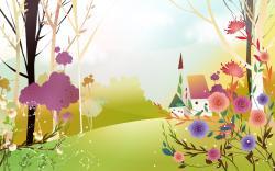 Download Spring Land, beautiful, cartoon, 1920x1200 wallpaper ...